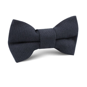 Öland Navy Blue Linen Kids Bow Tie