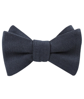 Öland Navy Blue Linen Self Bow Tie