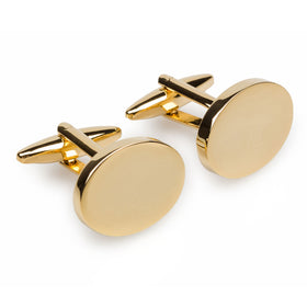 Old Trafford Gold Oval Cufflinks