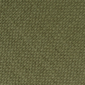 Olive Green Basket Weave Linen Pocket Square