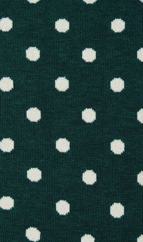 Olive Green Dot Socks