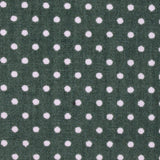 Olive Green Polka Dot Cotton Fabric Kids Bowtie