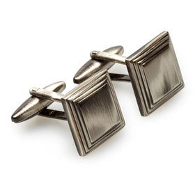 Ollivander Antique Silver Square Cufflinks