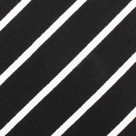 Onyx Black Pencil Striped Linen Kids Bow Tie