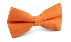 Orange Amber Slub Linen Bow Tie