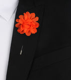 Tangelo Orange Lapel Flower Suit Jacket Boutonniere
