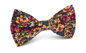 Orange Flowering Maple Bow Tie