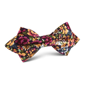 Orange Flowering Maple Diamond Bow Tie