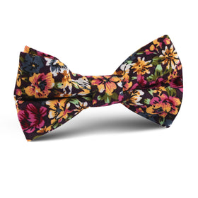 Orange Flowering Maple Kids Bow Tie