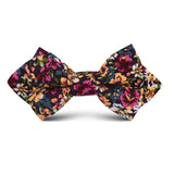 Orange Flowering Maple Kids Diamond Bow Tie