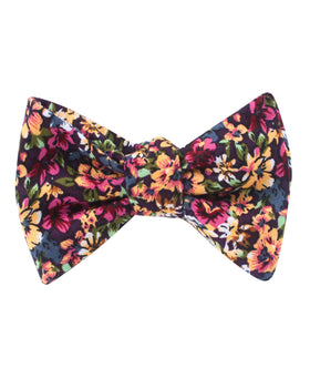 Orange Flowering Maple Self Bow Tie