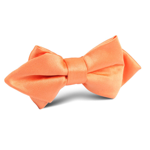 Orange Tangerine Satin Diamond Bow Tie
