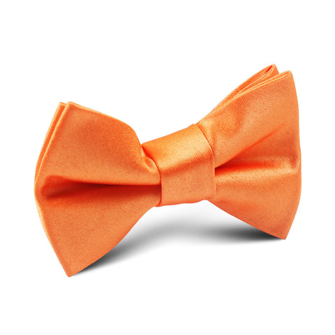 Orange Tangerine Satin Kids Bow Tie