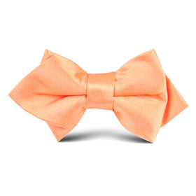 Orange Tangerine Satin Kids Diamond Bow Tie