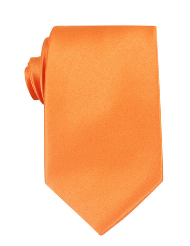 Orange Tangerine Satin Necktie