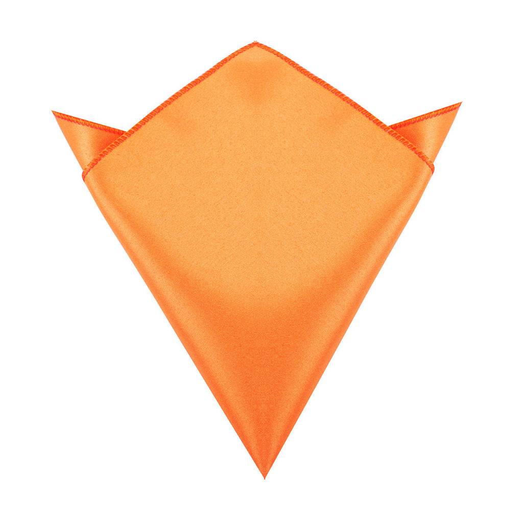 Orange Tangerine Satin Pocket Square