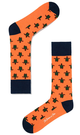 Orange Turtle Socks
