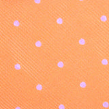 Orange with White Polka Dots Fabric Kids Bow Tie M133