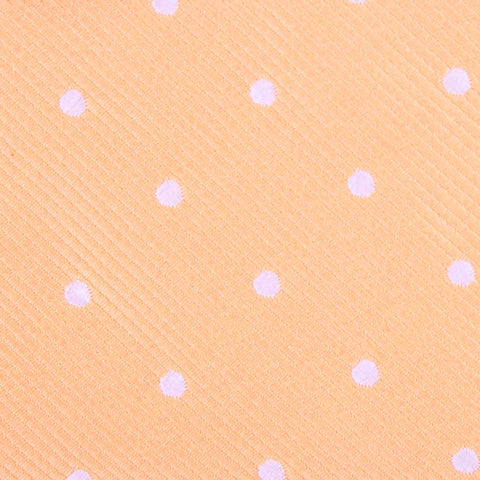 Orange with White Polka Dots Pocket Square