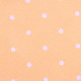 Orange with White Polka Dots Fabric Skinny Tie M133