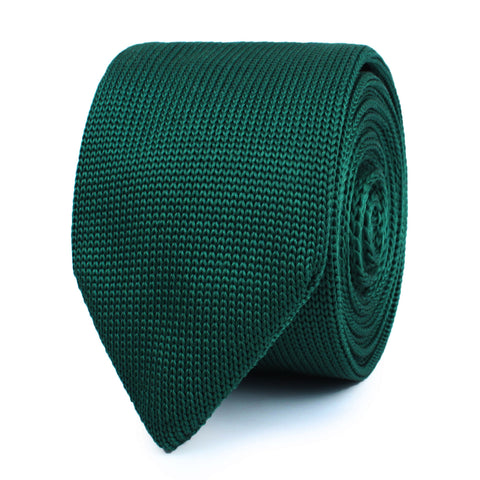 Orphic Green Knitted Tie