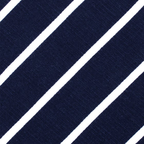 Oxford Blue Pencil Striped Linen Kids Bow Tie