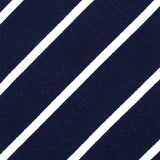 Oxford Blue Pencil Striped Linen Bow Tie Fabric
