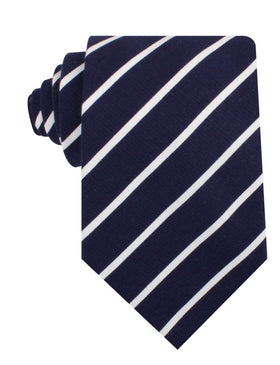 Oxford Blue Pencil Striped Linen Necktie