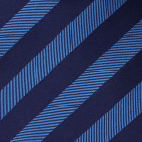 Oxford & Steel Blue Striped Kids Bow Tie