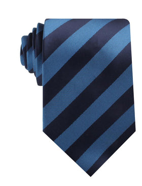 Oxford & Steel Blue Striped Necktie