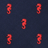 Pacific Seahorse Pocket Square Fabric