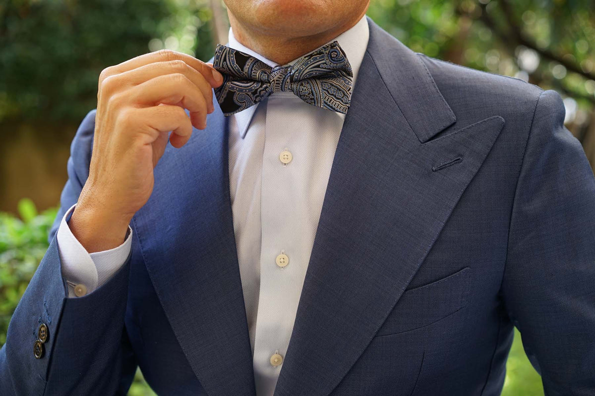 Paisley Blue - Bow Tie