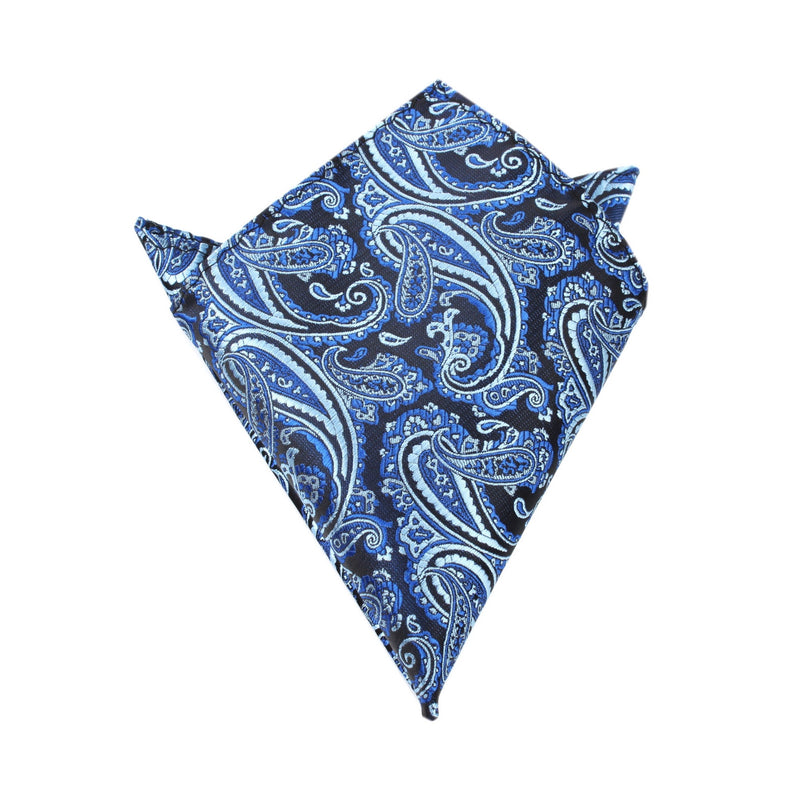 8fdd6415120f4 Paisley Black and Blue Pocket Square | Mens Handkerchief | Australia | OTAA