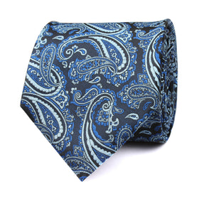 Paisley Black and Blue Tie