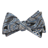 Paisley Blue - Bow Tie (Untied) Self tied knot by OTAA