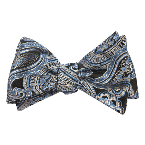 Paisley Blue - Bow Tie (Untied)