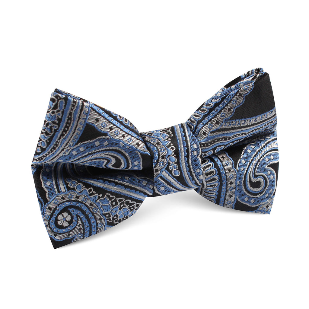 Paisley Blue Kids Bow Tie