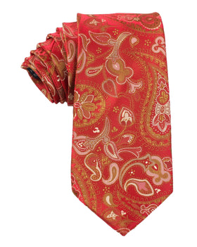 Paisley Maroon with Brown Tie