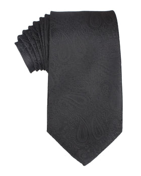 Paisley Midnight Black Necktie