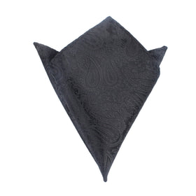 Paisley Midnight Black Pocket Square