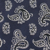 Paisley Navy Blue Fabric Self Tie Diamond Tip Bow Tie X254