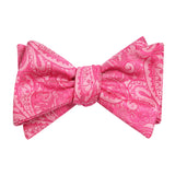 Paisley Pink - Bow Tie (Untied) Self tied knot by OTAA