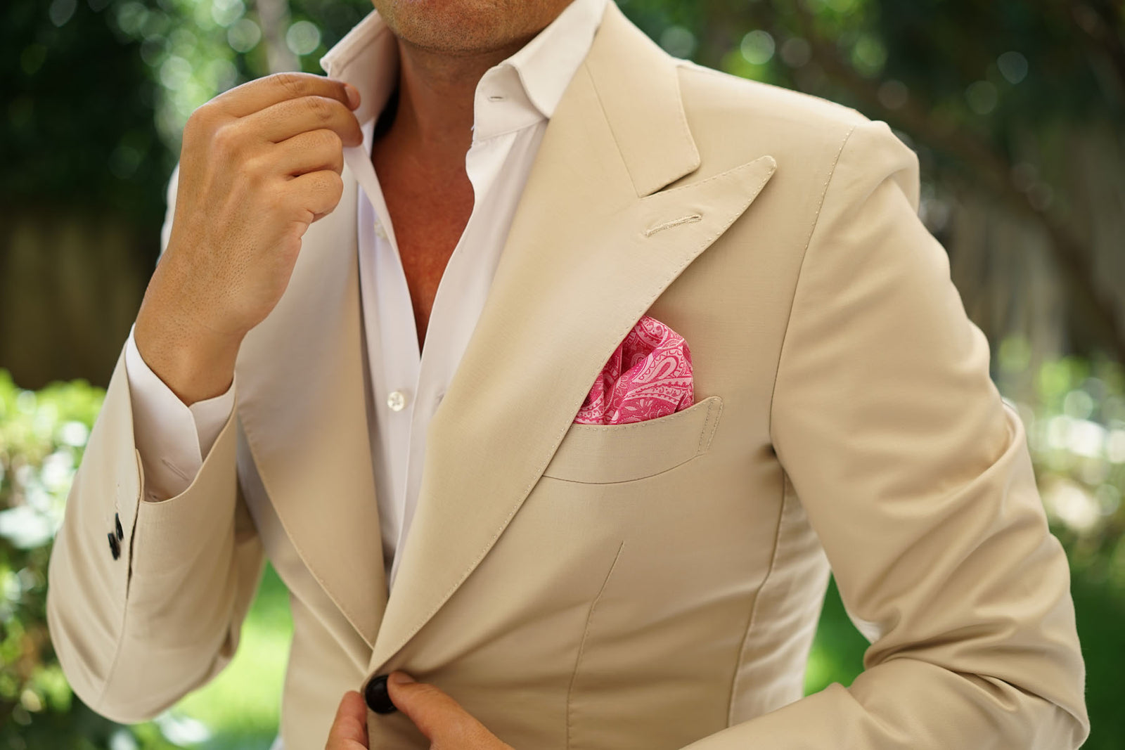 Paisley Pink - Pocket Square