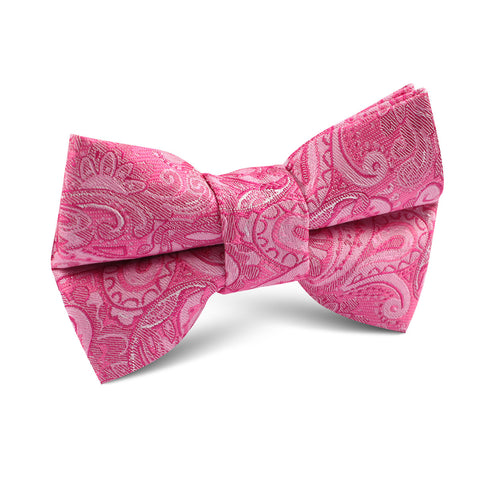 Paisley Pink Kids Bow Tie