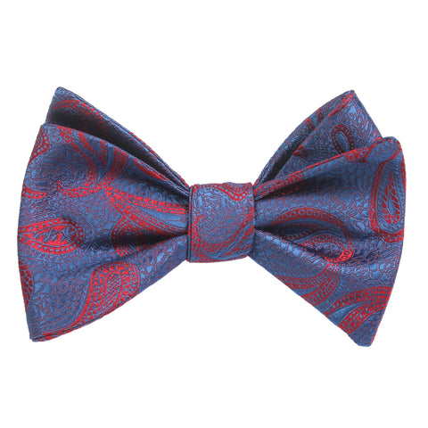 Paisley Purple and Red - Bow Tie (Untied)