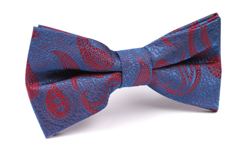 Paisley Purple and Red Bow Tie