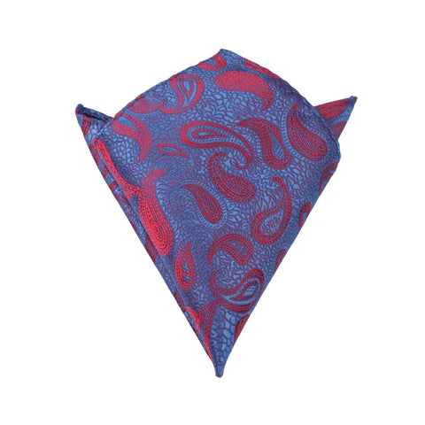 Paisley Purple and Red - Pocket Square