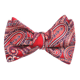 Paisley Red Bow Tie Untied X110 OTAA