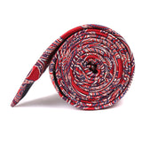 Paisley Red - Skinny Tie Side Roll
