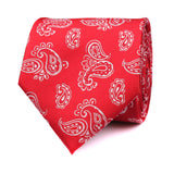 Paisley Red Necktie Front View